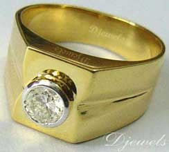 Diamond Gents Ring