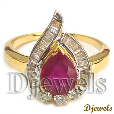 Natural Ruby Ladies Ring
