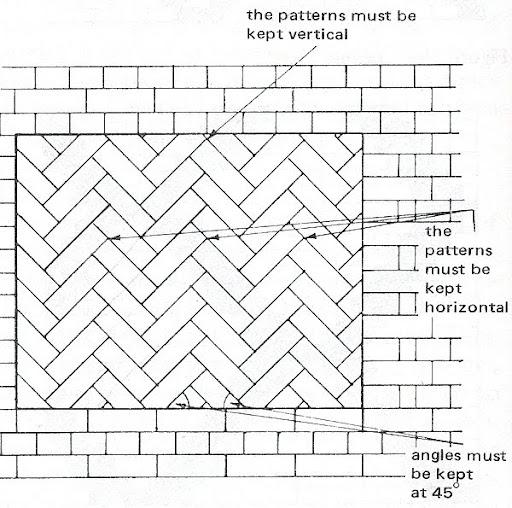 Students Work Dales Herringbone - 45 degree herringbone tile pattern