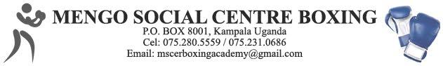 MENGO SOCIAL CENTRE BOXING