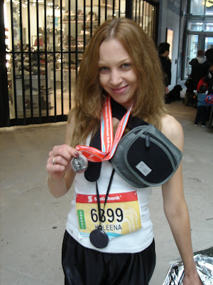 kaleena lawless after scotiabank waterfront half marathon in toronto