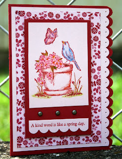 STAMPIN UP RUBBER STAMPS AIROBORNE WIFE BIRD FLOWERS COLOR PENCILS STAMPING