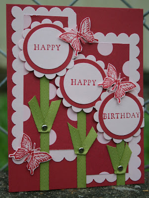 birthday fundamental phrases butterflies bella rose designer paper stamping stampin up airbornewife