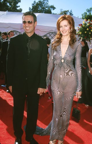 geena Davis In A See-Thru Dress