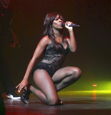 Alexandra Burke  In Fishnets