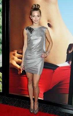 AnnaLynne McCord In A Silver Minidress