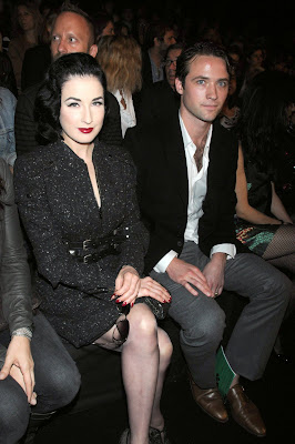 Dita Von Teese In Black Nylons