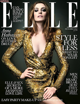 Anne Hathaway Elle Covers