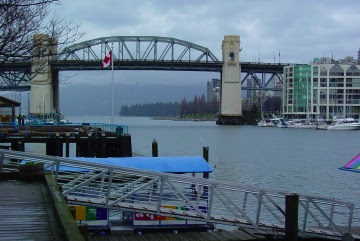Looking towards English Bay from Granville Island