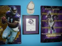 Minnesota Vikings memorabilia wall