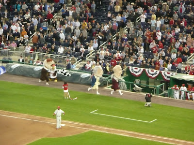 Presidents Race at Washington Nationals stadium