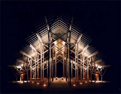 E fay jones and his ethereal pinecote pavilion for E fay jones architecture