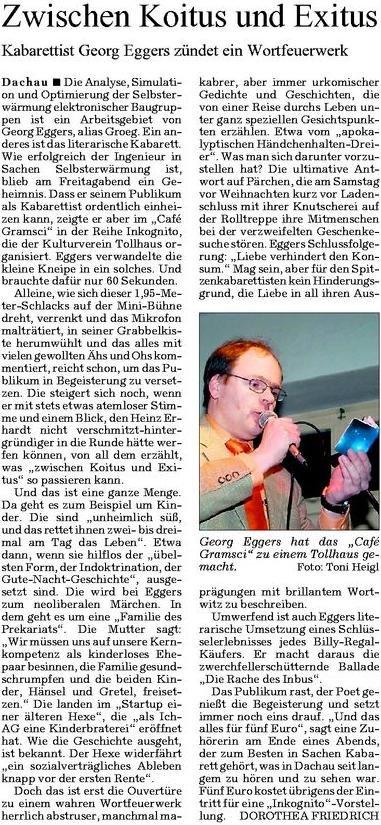 SZ über Georg Eggers