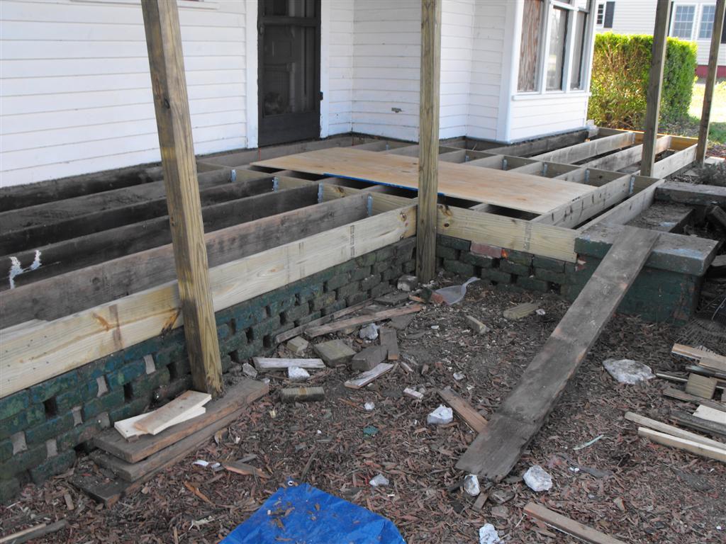 Aycock Morgan House Framing The Porch Floor