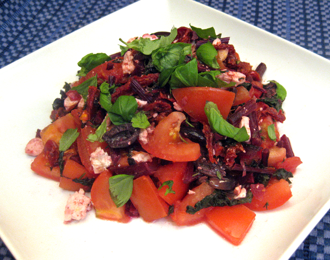 Tomato-Beet Salad Recipe — Dishmaps