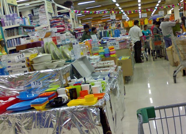 inside of a supermarket