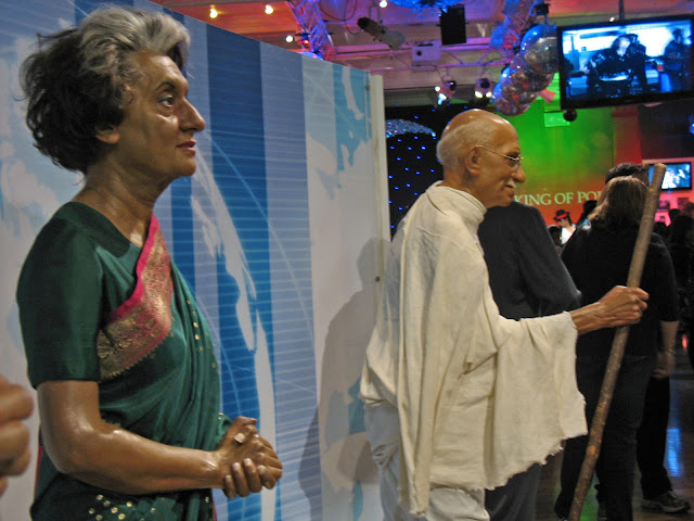 Indira Gandhi wax sculpture