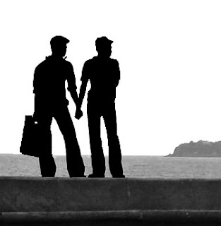 gay couple silhouette