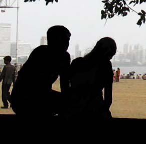 silhouetted couple photo
