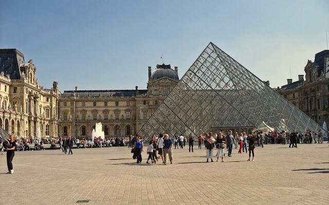 glass metal pyramid at Louvre Paris