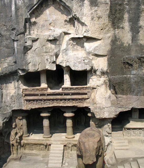 elephant sculpture at Kailashnath Temple