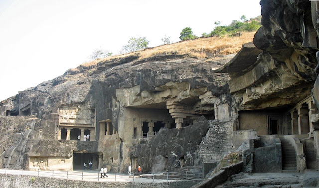 different view Ellora caves