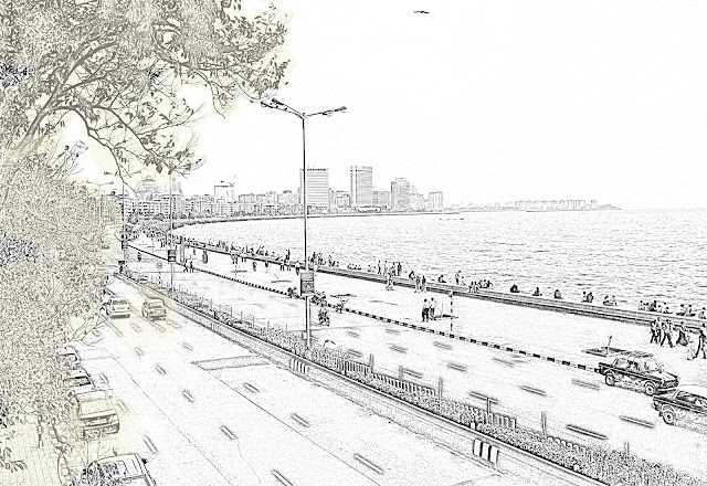Marine Drive sketch