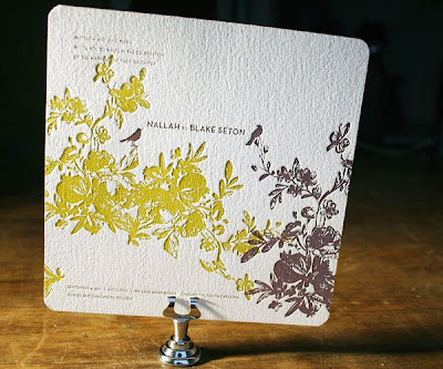 These beautiful wedding invitations are from They donate 1 of sales to