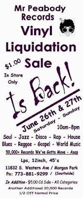 Mr. Peabody Records sale june 26th & 27th