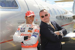Lewis Hamilton  and Learjet