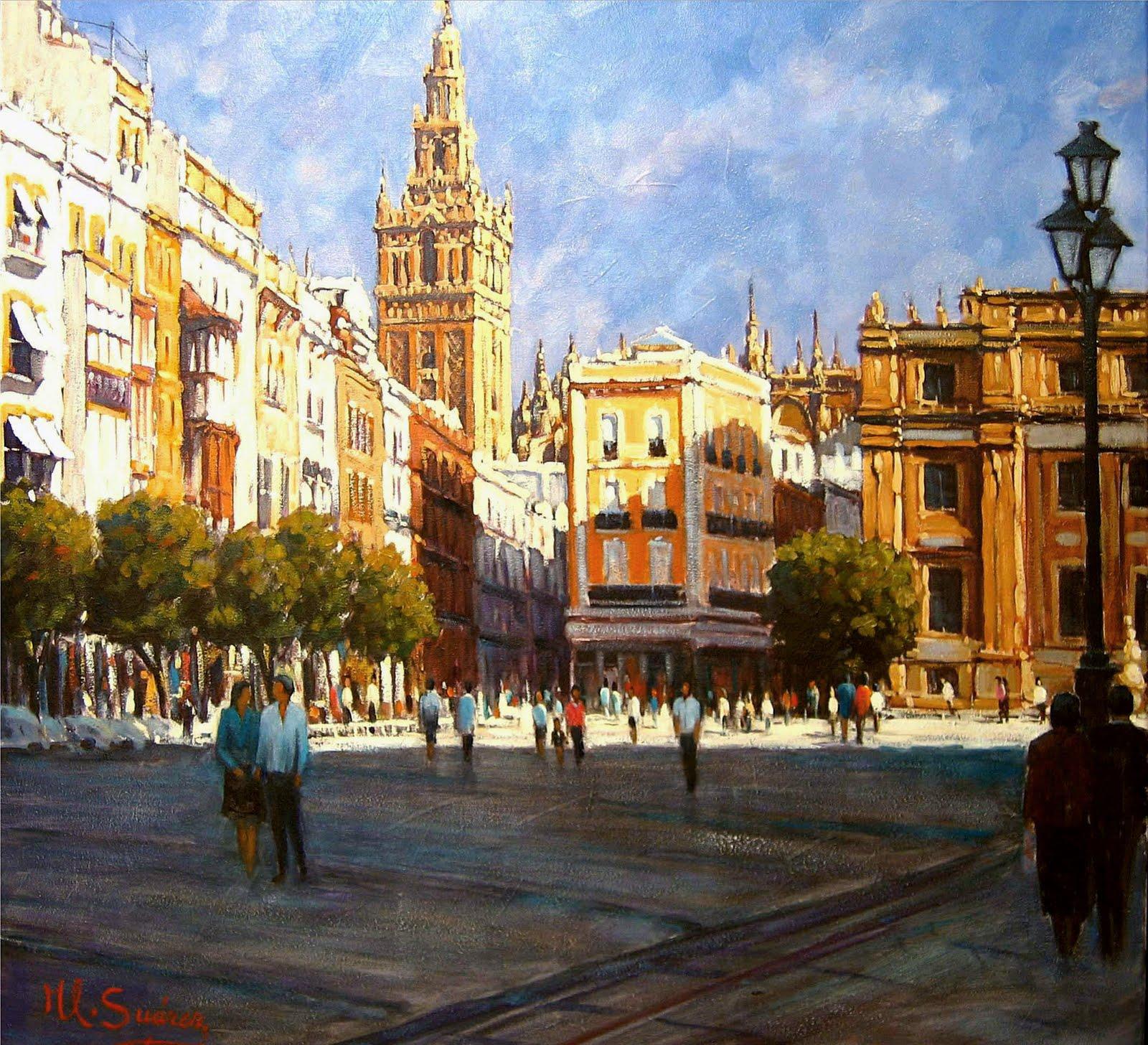 Galeria jlsuarez sevilla plaza san francisco paisajes for Todo pintura sevilla