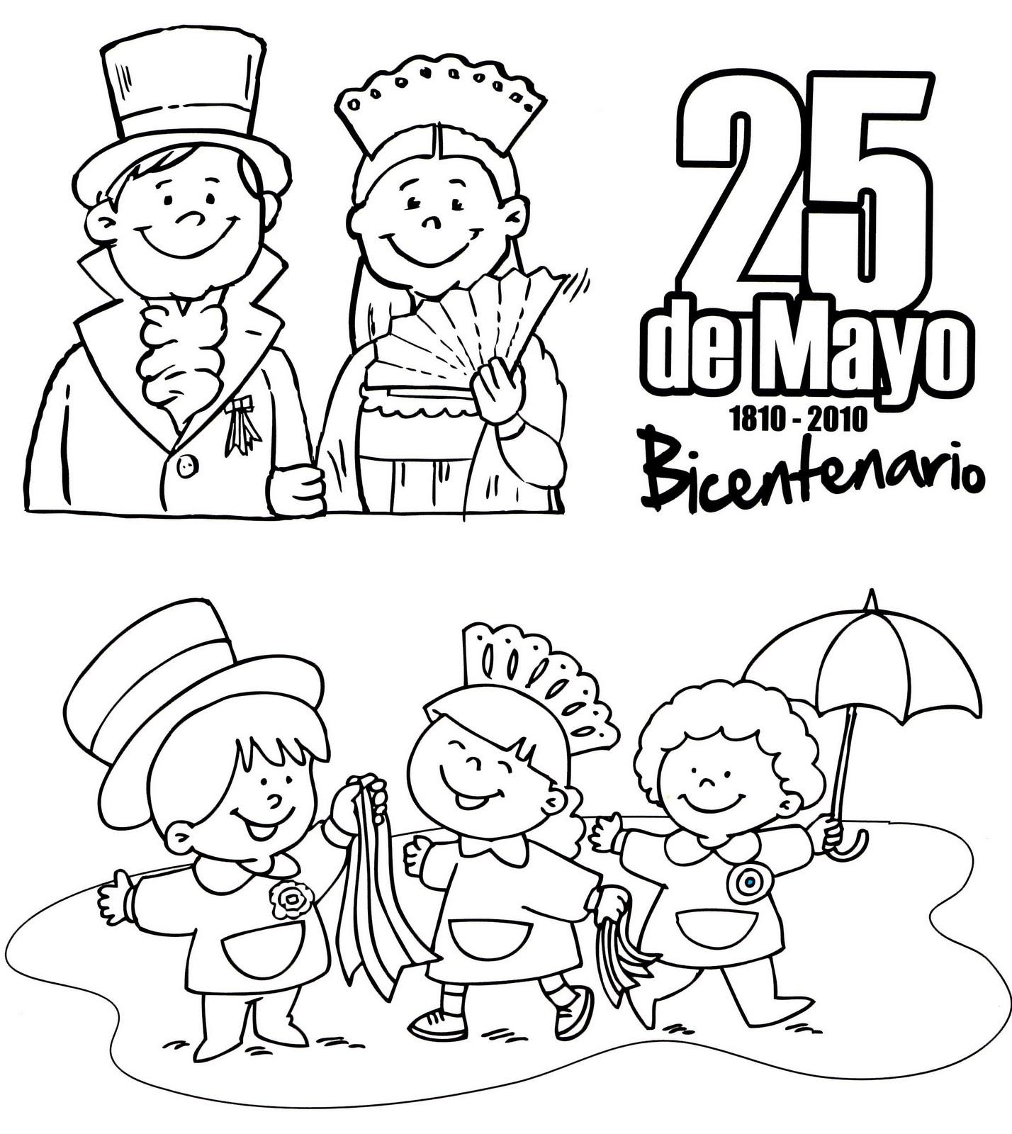 25 De Mayo  Imagenes Para Colorear