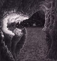 landscape fantasy art scifi science fiction crystal cave gemstones