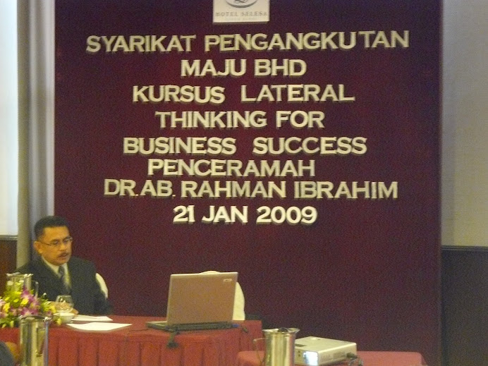 KURSUS LATERAL THINKING
