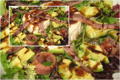 Ensalada con queso de cabra, anchoas y vinagre Pedro Ximénez