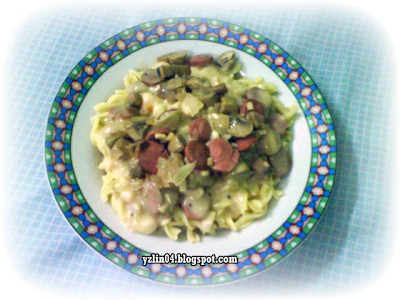 Mushroom Sausage Macaroni