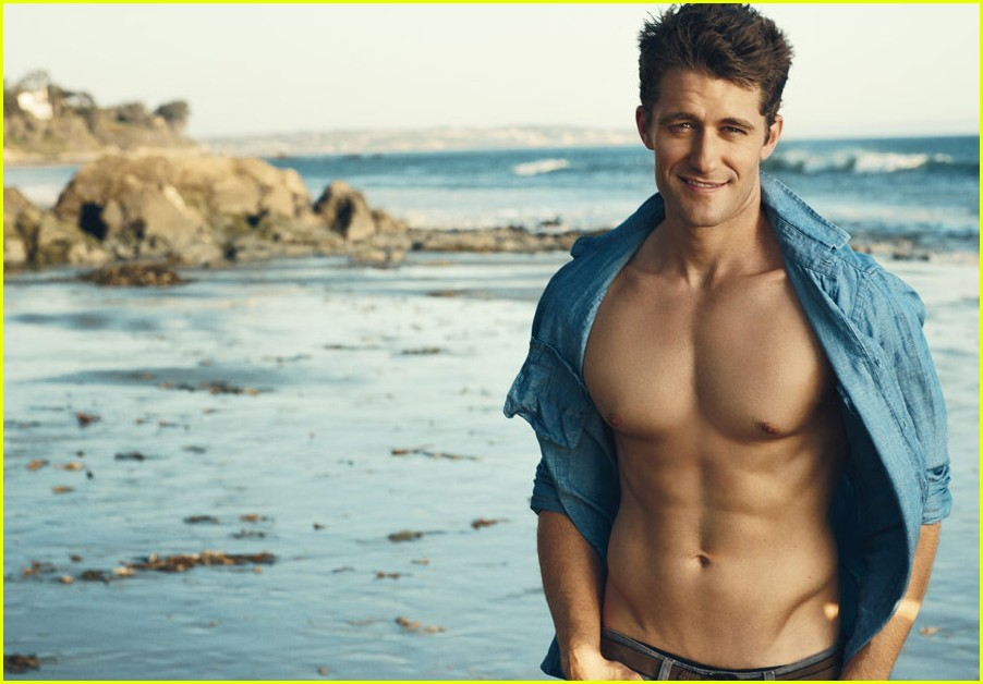 matthew morrison kissing guy. Matthew Morrison: Shirtless