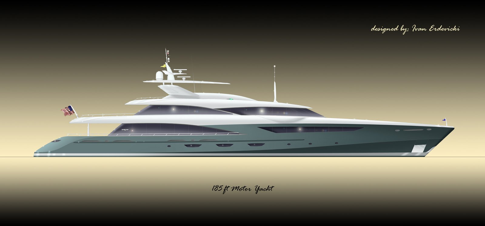 Art Line Yacht Design : Two new drawings from superyacht designer in canada the