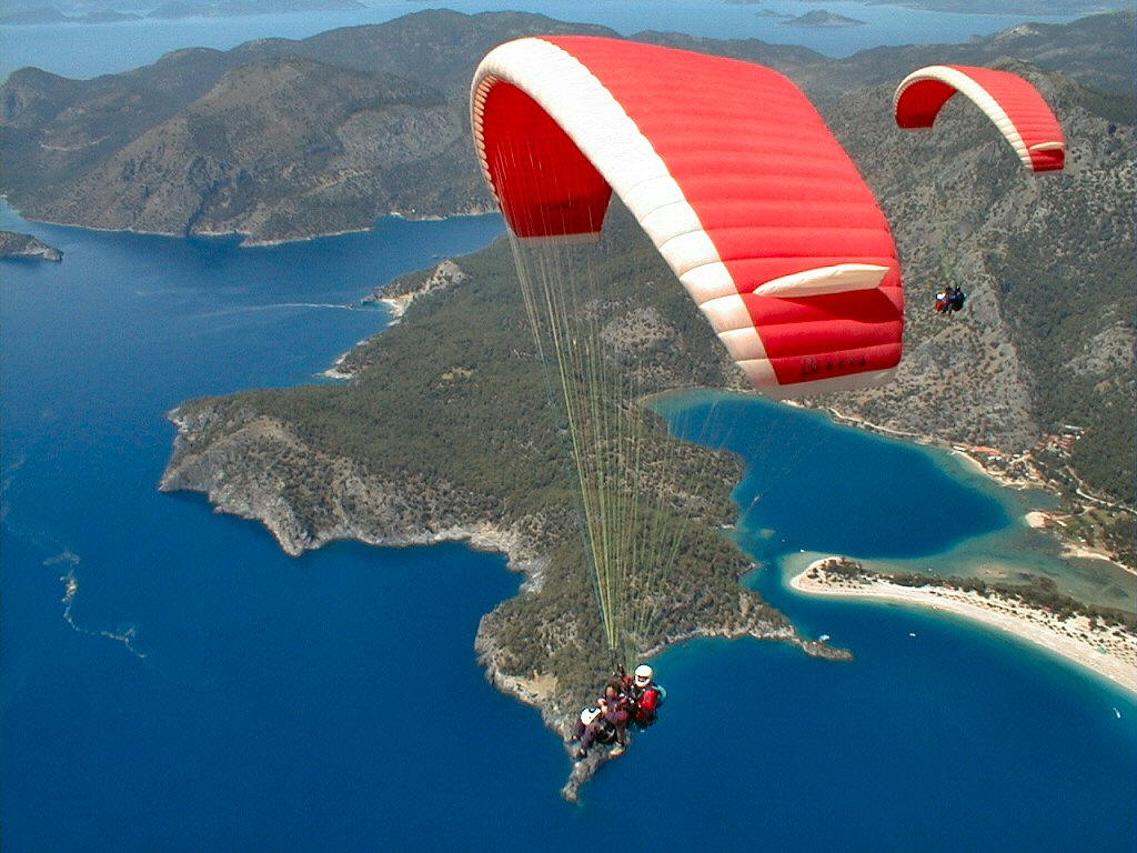 Rock Climbing Extrem: paragliding wallpapers