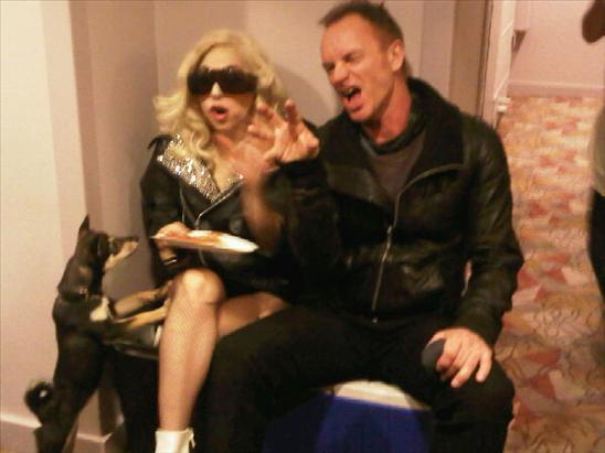 lady gaga claw sting backstage