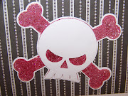 And here's a Close up of the Skull and Crossbones on the outside of the card .