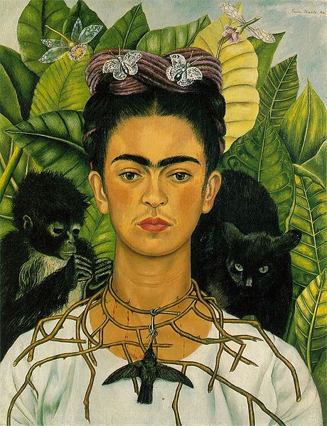 frida kahlo paintings. Frida Kahlo with monkey,