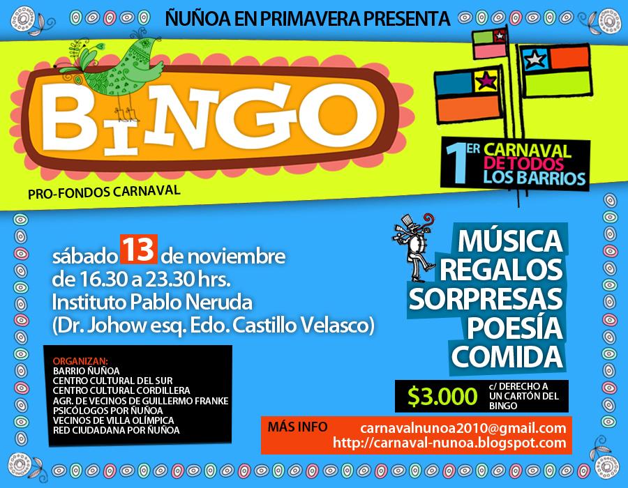 Grupo Psicología por Ñuñoa: Vecino/as de Ñuñoa organizan Bingo para ...