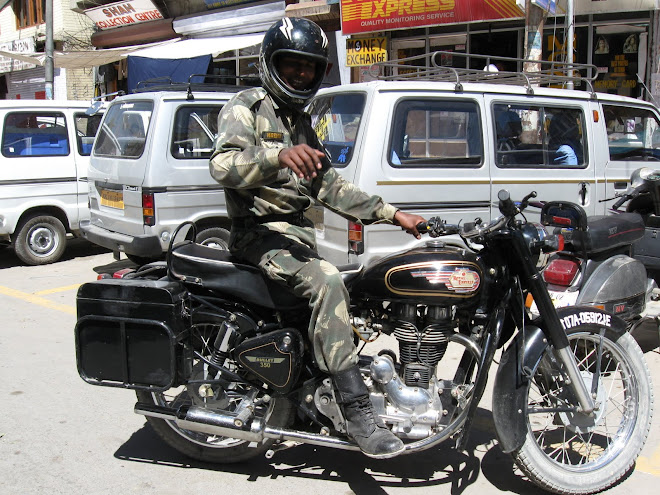 Indian Army guy on a civilian Enfield Bullet