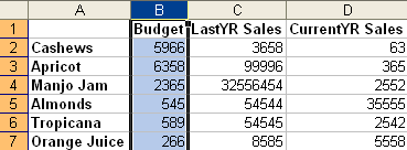 Freeze First Column in Excel