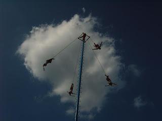 Paysages du Mexique - Papantla - volador