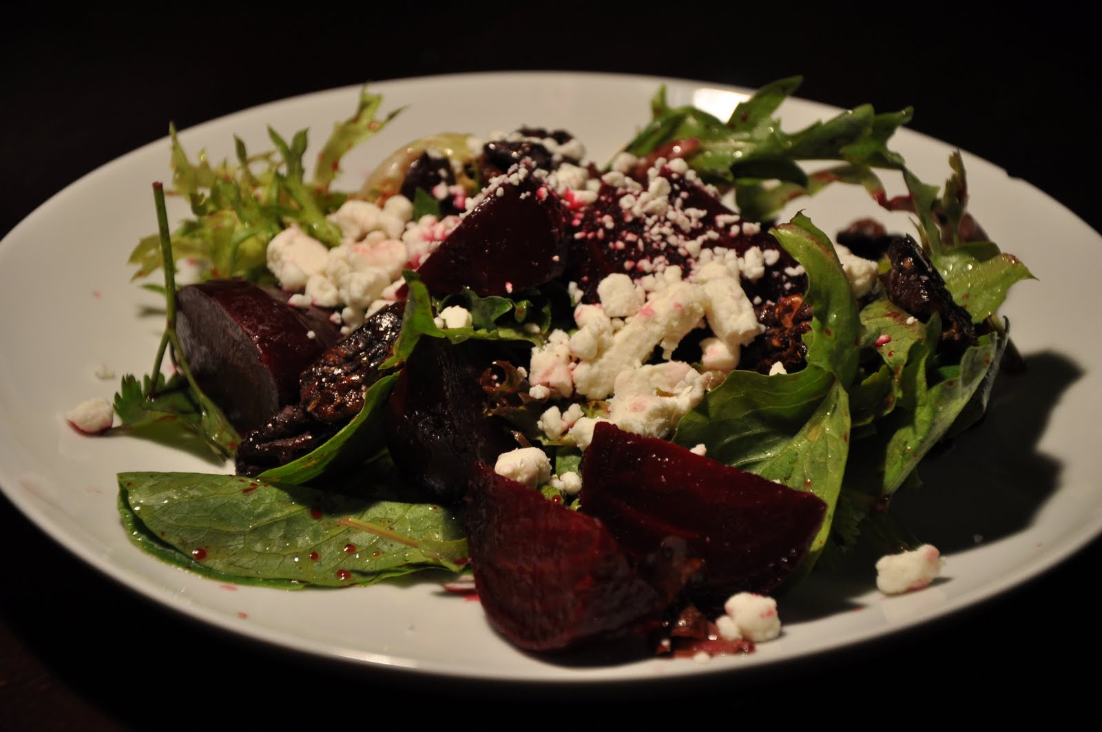 ... of Rice: Salad with Roasted Beets, Goat Cheese and Candied Pecans