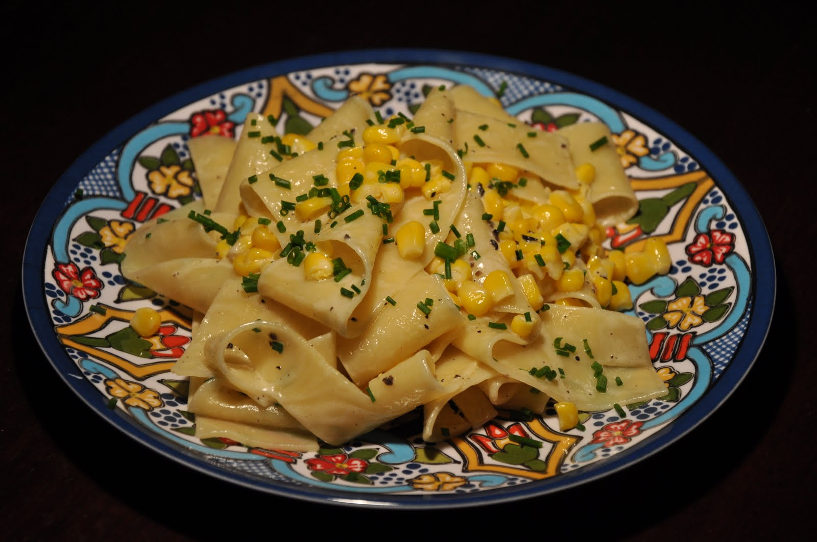 Slice Of Rice Pappardelle With Truffle Butter And Sweet Corn