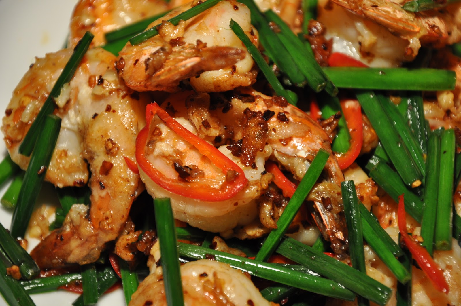 : Chinese New Year Meal #1 - Fisherman's Shrimp with Chinese Chives ...