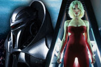Cylon centurion and Six
